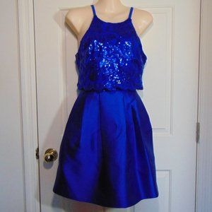 A. Byer Blue Formal Two Piece Mini Dress